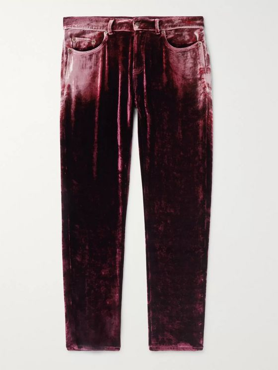 SAINT LAURENT Skinny-Fit Velvet Trousers