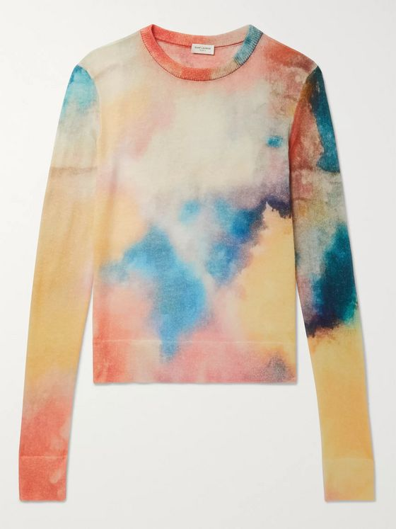 SAINT LAURENT Tie-Dyed Knitted Sweater
