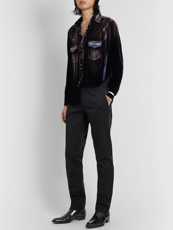 SAINT LAURENT Devoré-Velvet Shirt