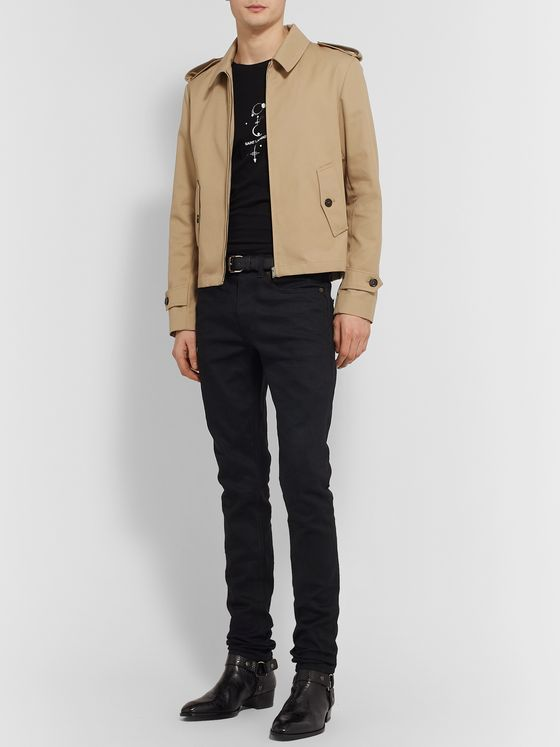 SAINT LAURENT Twill Blouson Jacket