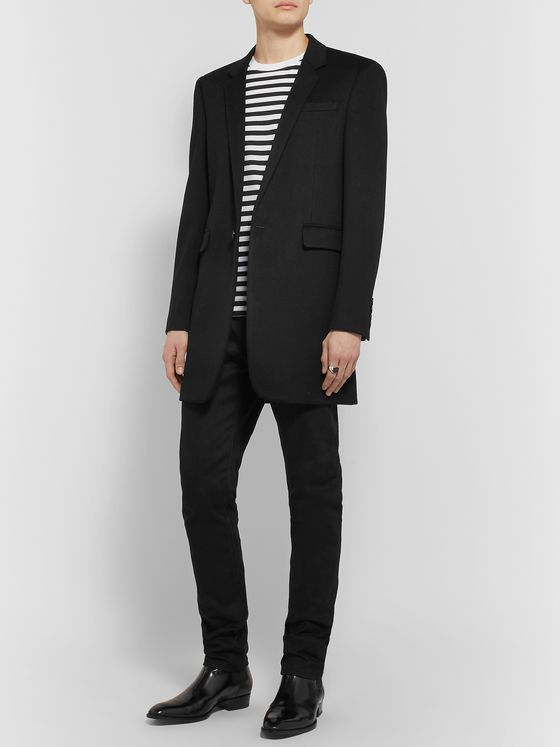 SAINT LAURENT Slim-Fit Wool and Cashmere-Blend Coat
