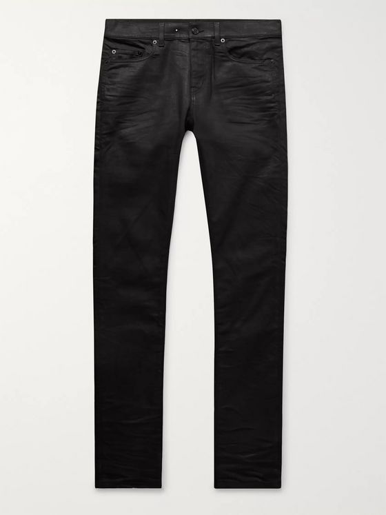 SAINT LAURENT Skinny-Fit Coated-Denim Jeans