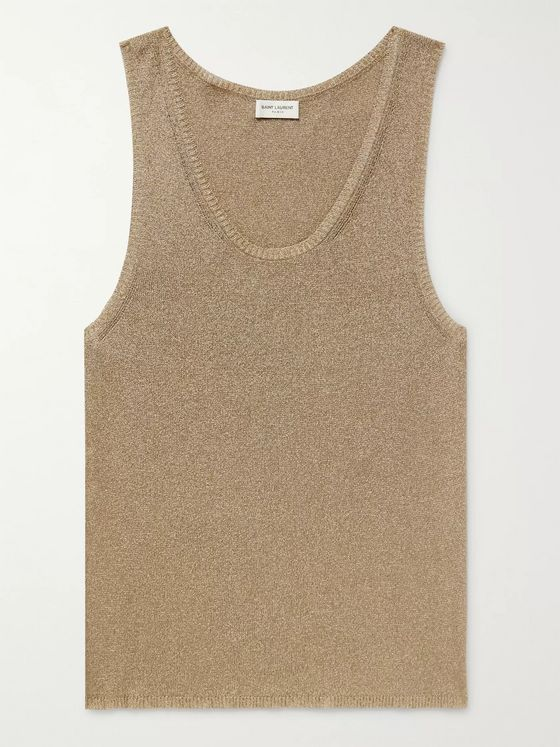 SAINT LAURENT Slim-Fit Lurex-Blend Tank Top