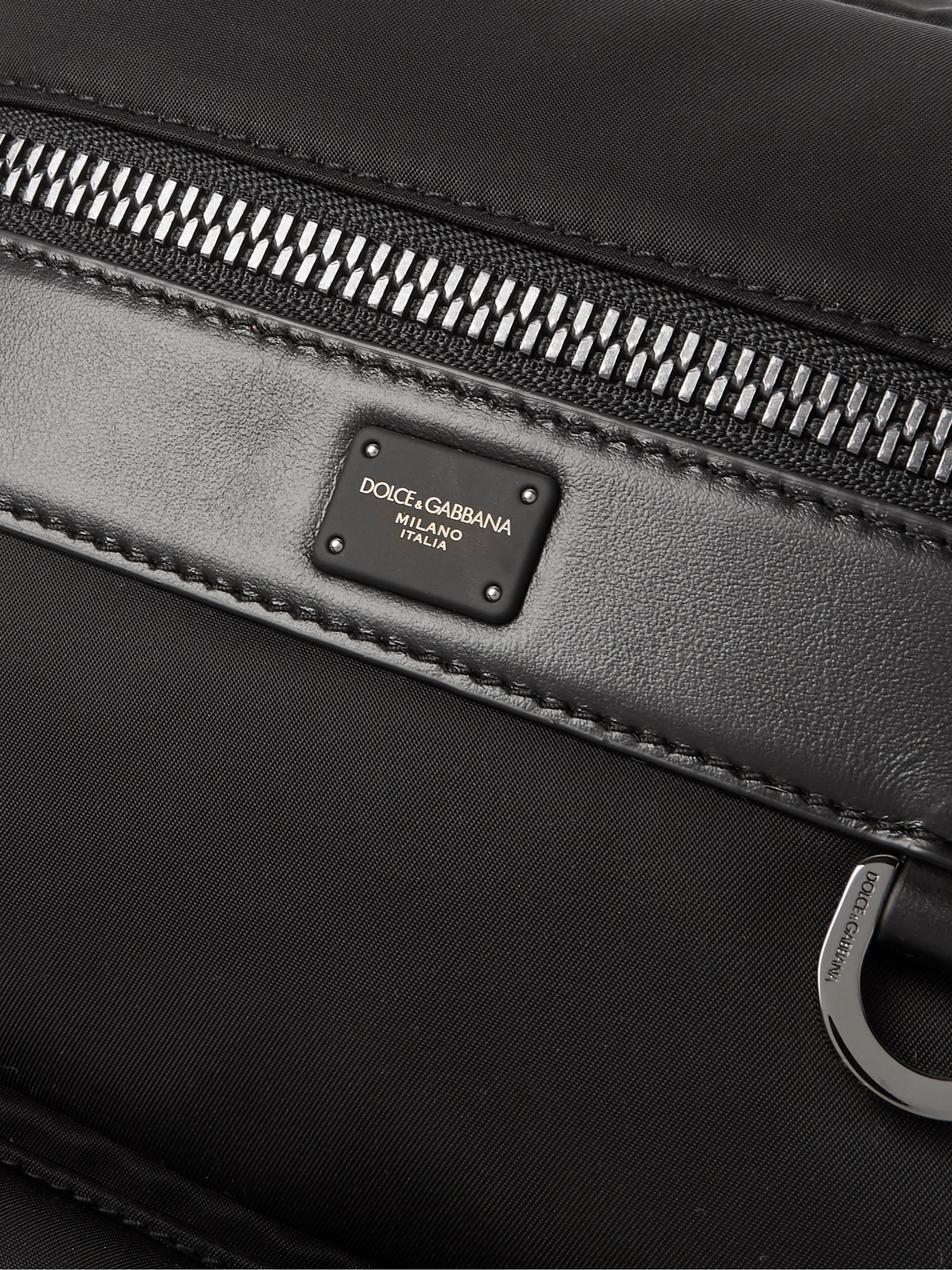 Dolce & Gabbana Convertible Logo-Detailed Leather-Trimmed Nylon Bag