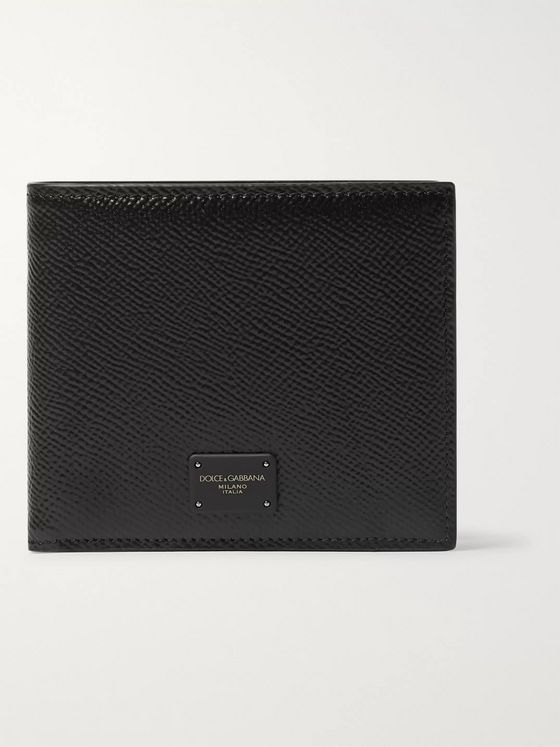 Dolce & Gabbana Logo-Appliquéd Full-Grain Leather Billfold Wallet
