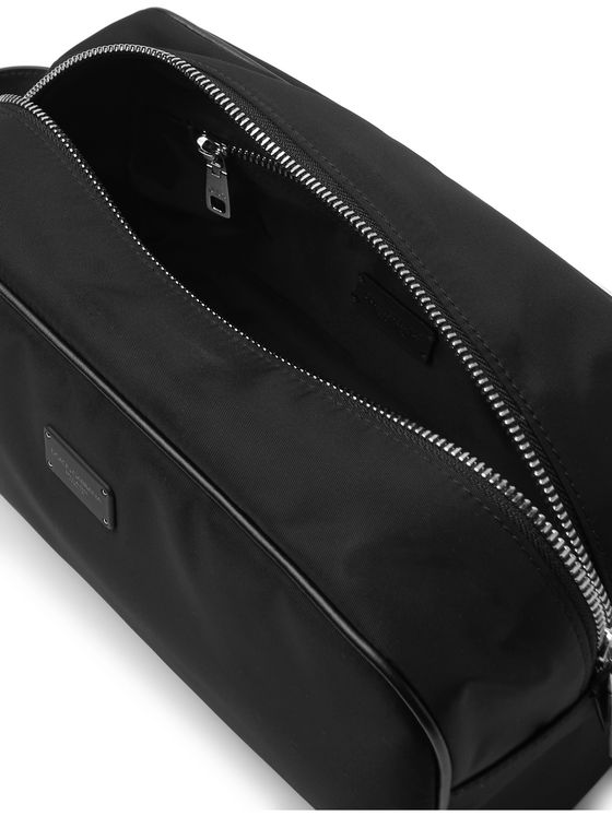 Dolce & Gabbana Leather-Trimmed Nylon Wash Bag
