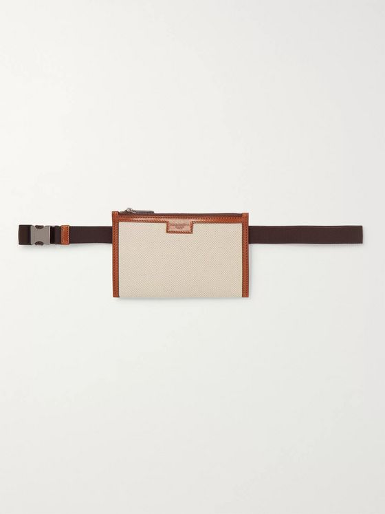 Dolce & Gabbana Leather-Trimmed Canvas Belt Bag