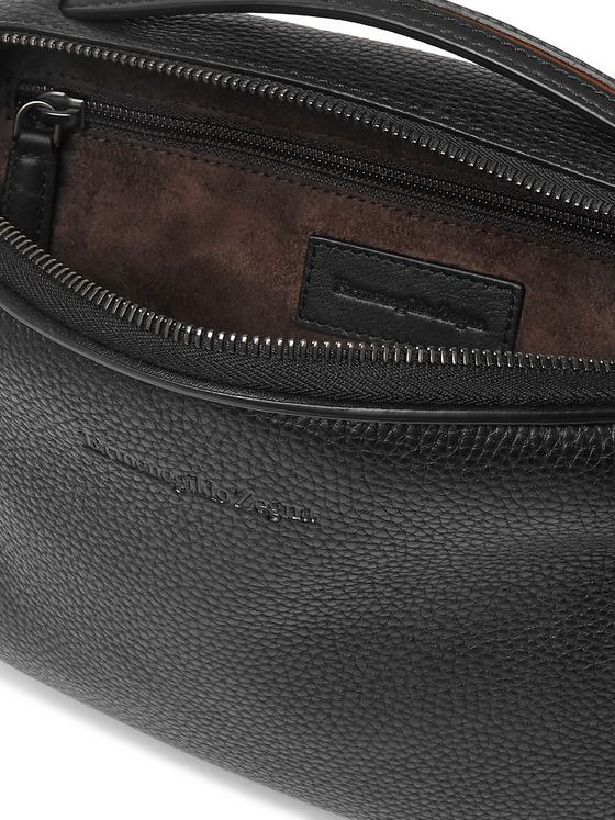 Ermenegildo Zegna Full-Grain Leather Belt Bag