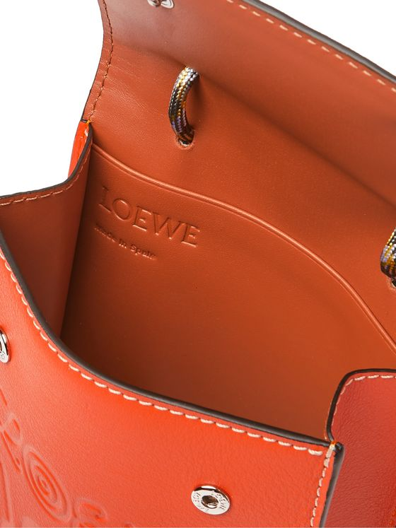 Loewe Eye/LOEWE/Nature Logo-Debossed Leather Pouch
