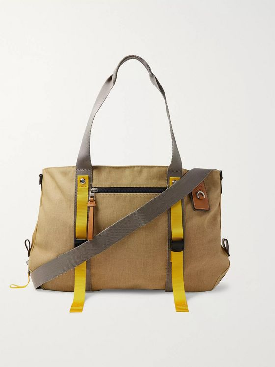 Loewe Eye/LOEWE/Nature Leather- and Webbing-Trimmed Canvas Tote Bag