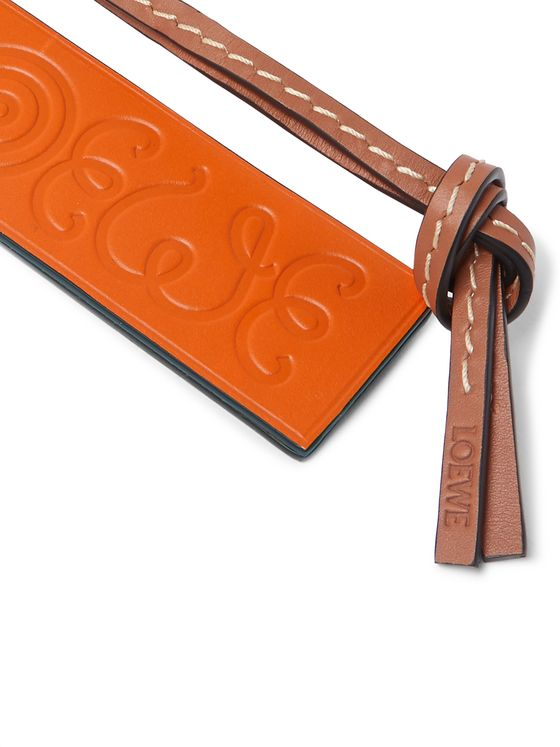 Loewe Eye/LOEWE/Nature Logo-Debossed Leather Key Fob