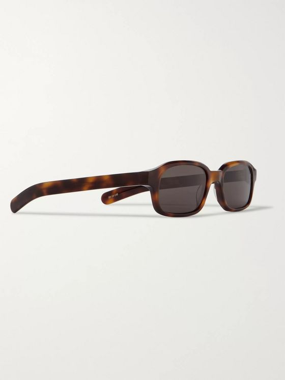 FLATLIST Hanky Rectangle-Frame Tortoiseshell Acetate Sunglasses