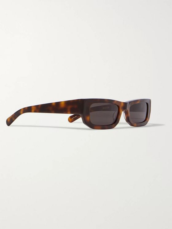FLATLIST Bricktop Rectangle-Frame Tortoiseshell Acetate Sunglasses