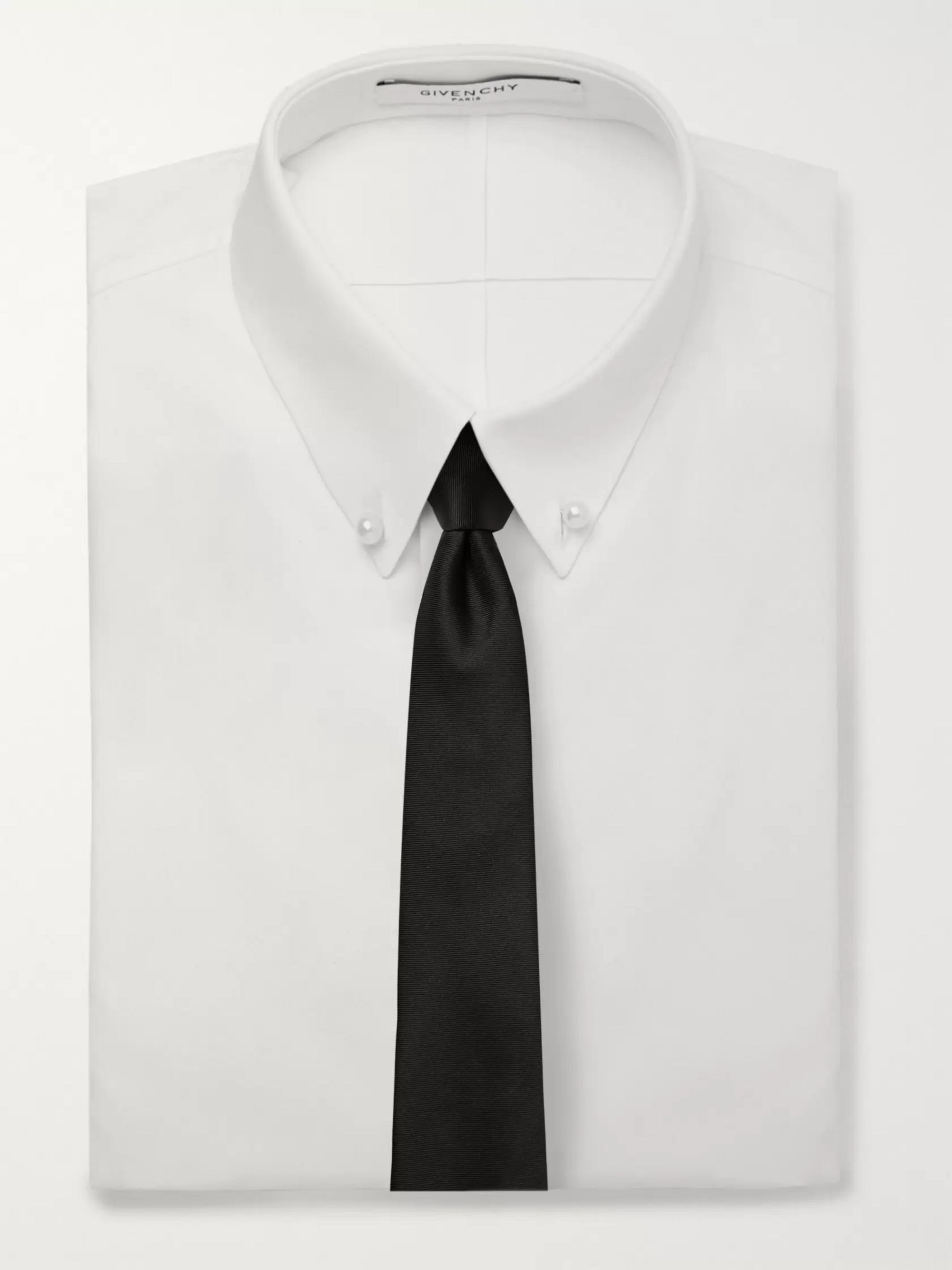 Givenchy 7cm Logo-Embroidered Silk-Faille Tie