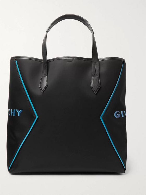 Givenchy Leather-Trimmed Logo-Print Nylon Tote Bag