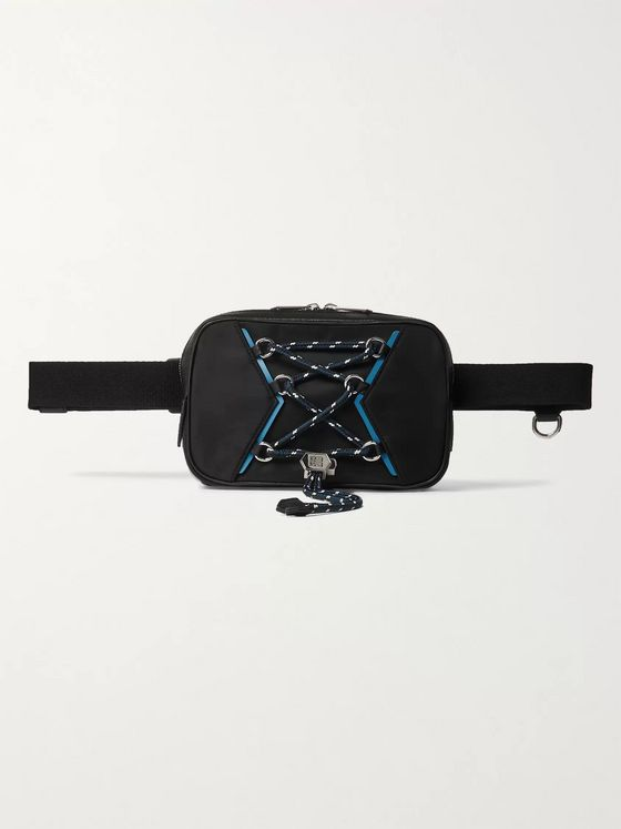 Givenchy Leather-Trimmed Logo-Print Shell Belt Bag