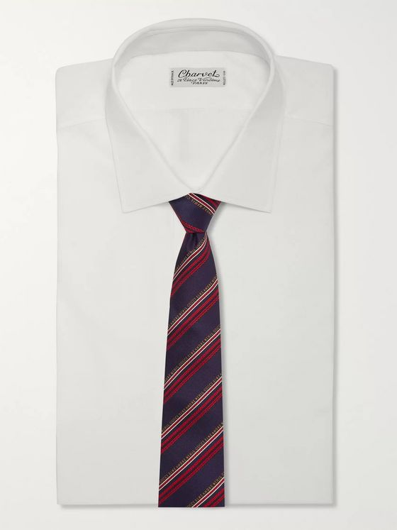 GUCCI 7.5cm Striped Silk and Wool-Blend Jacquard Tie