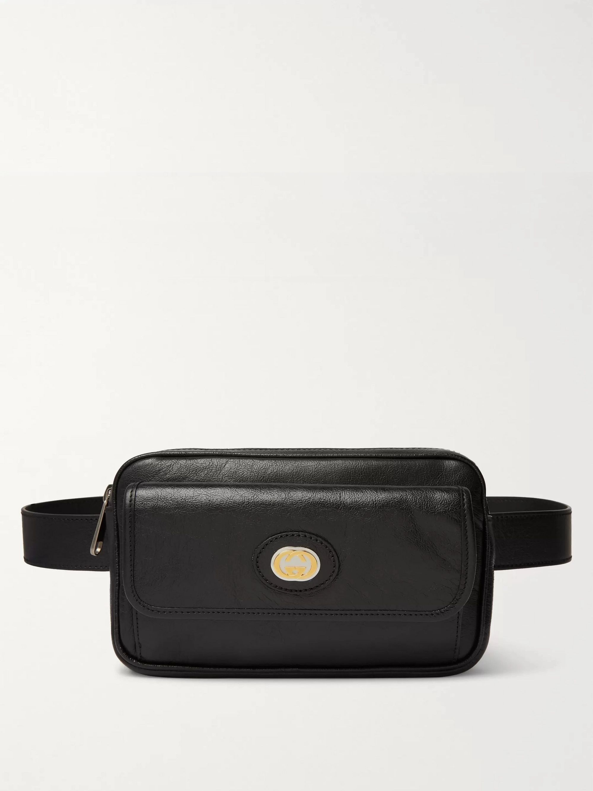 Gucci Morpheus Textured-Leather Belt Bag