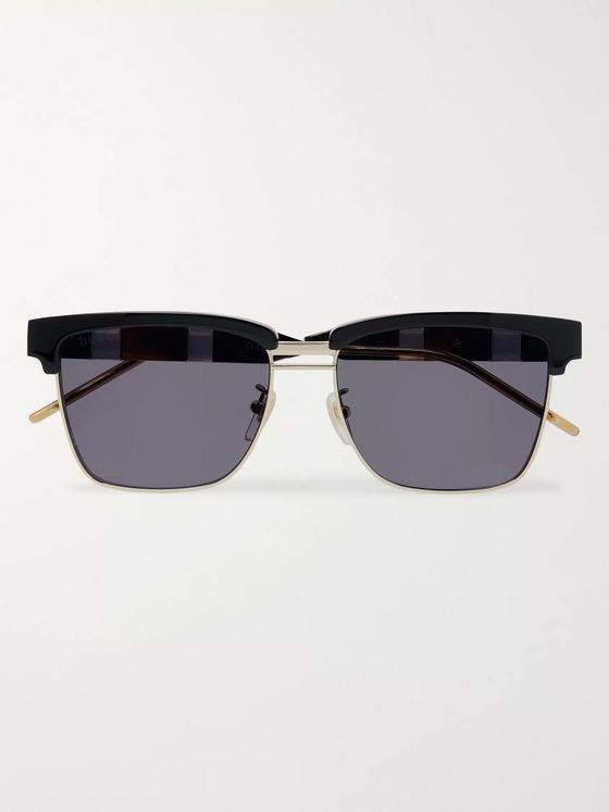 Gucci D-Frame Tortoiseshell Acetate and Gold-Tone Sunglasses