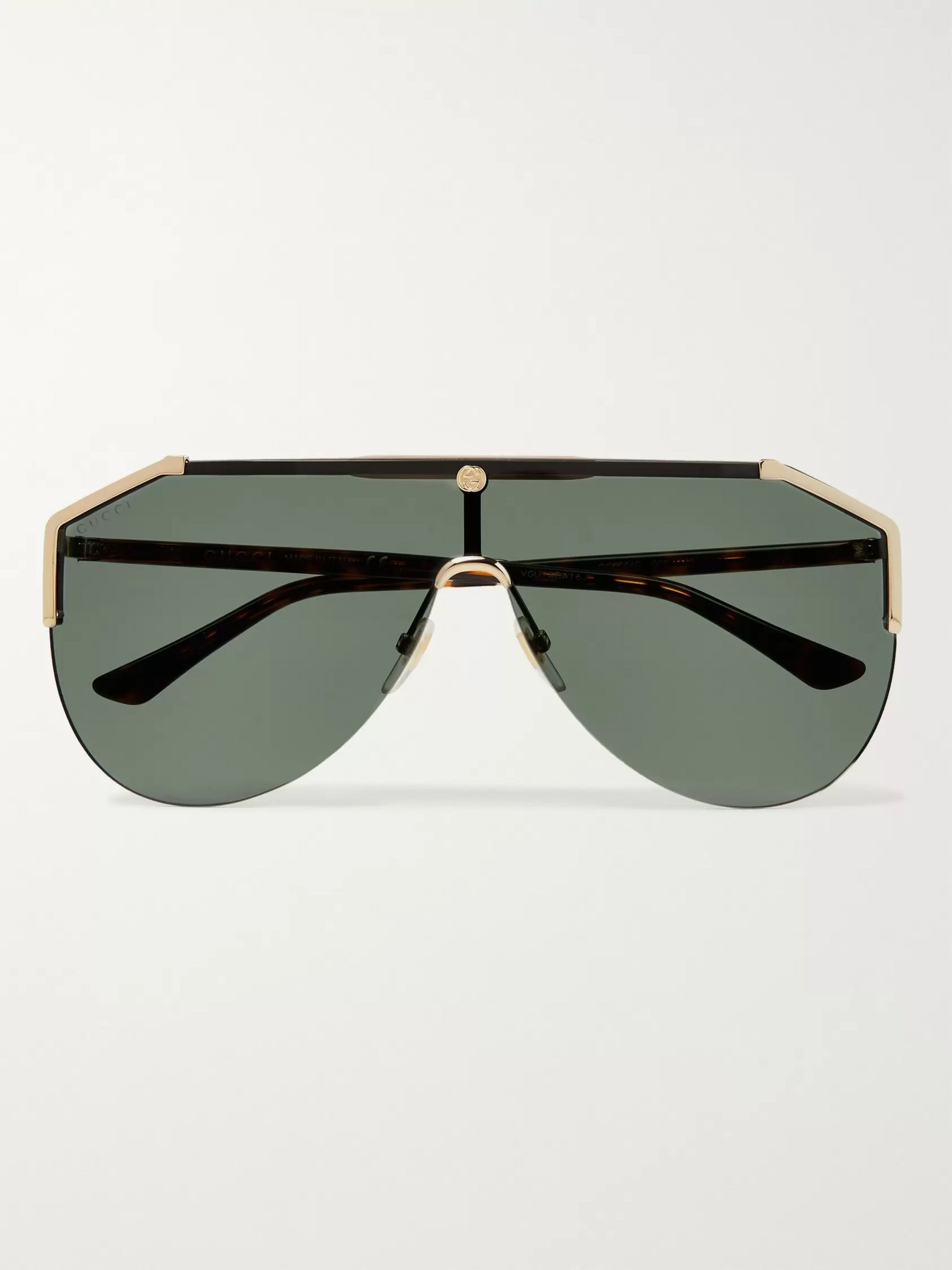 Gucci Aviator-Style Gold-Tone and Tortoiseshell Acetate Sunglasses