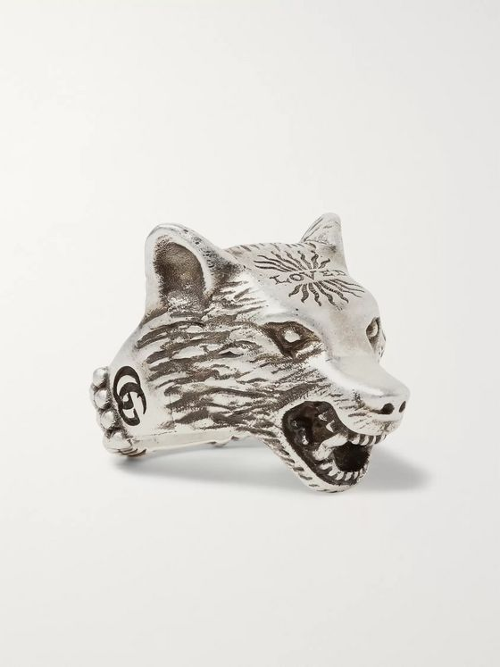 Gucci Anger Forest Burnished Sterling Silver Ring