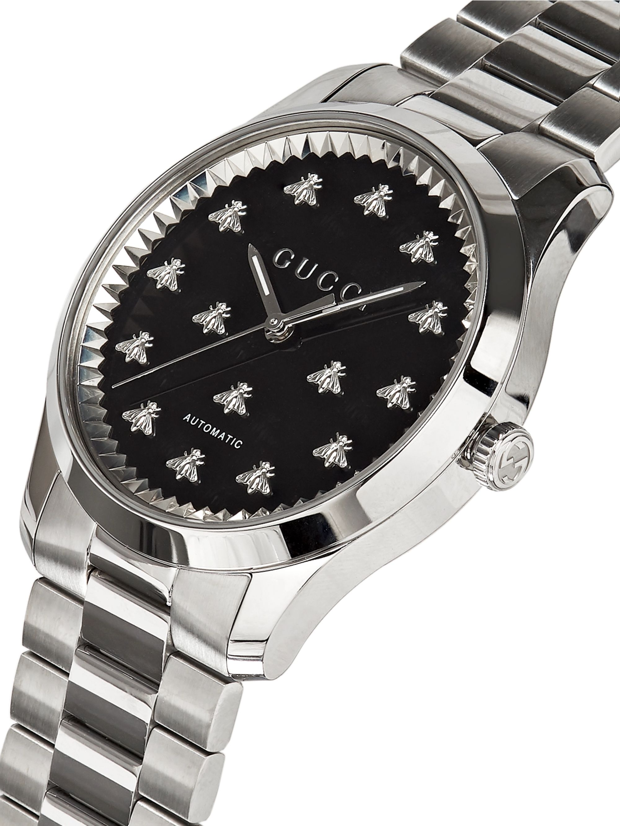 Gucci G-Timeless 42mm Stainless Steel Watch