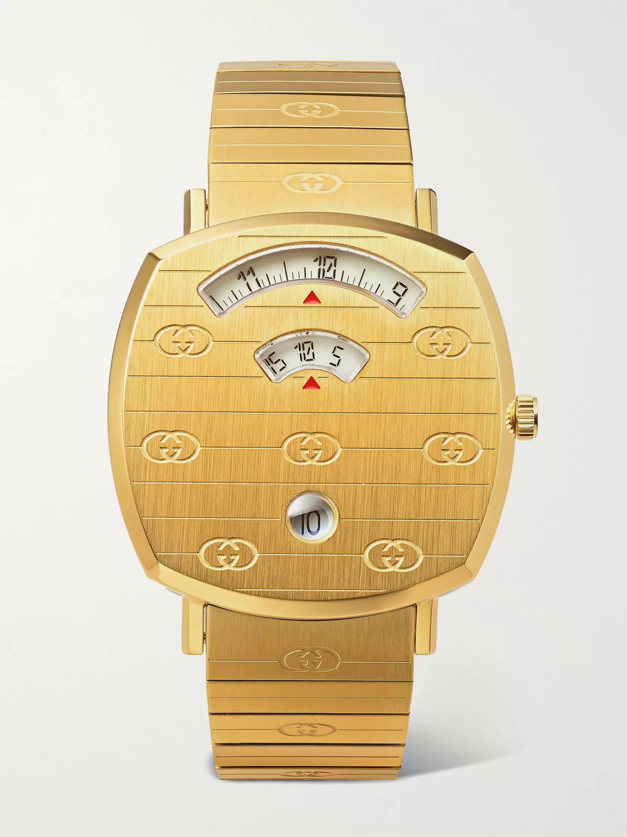 Gucci Grip 38mm Gold-Tone PVD-Coated Watch