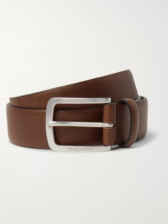 Hugo Boss 4.5cm Brown Jor Leather Belt