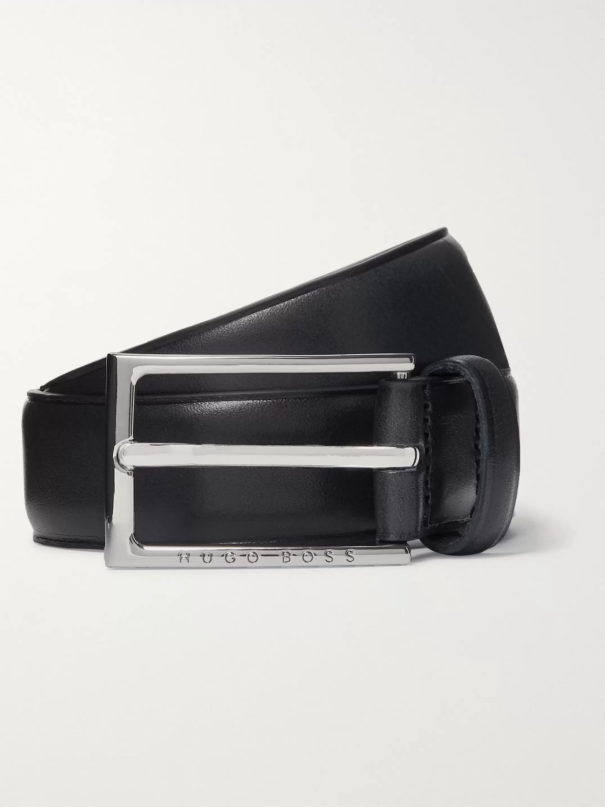 Hugo Boss 3cm Navy Ceddy Leather Belt