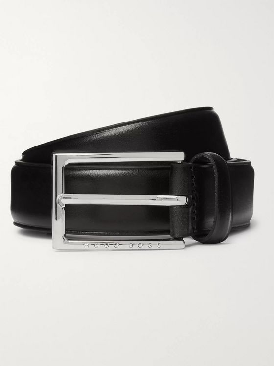 Hugo Boss 3cm Black Ceddy Leather Belt