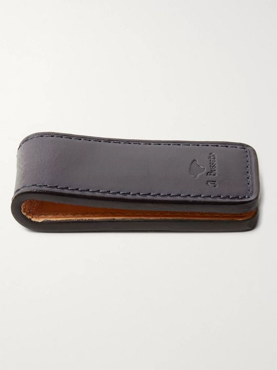 Il Bussetto Polished-Leather Money Clip