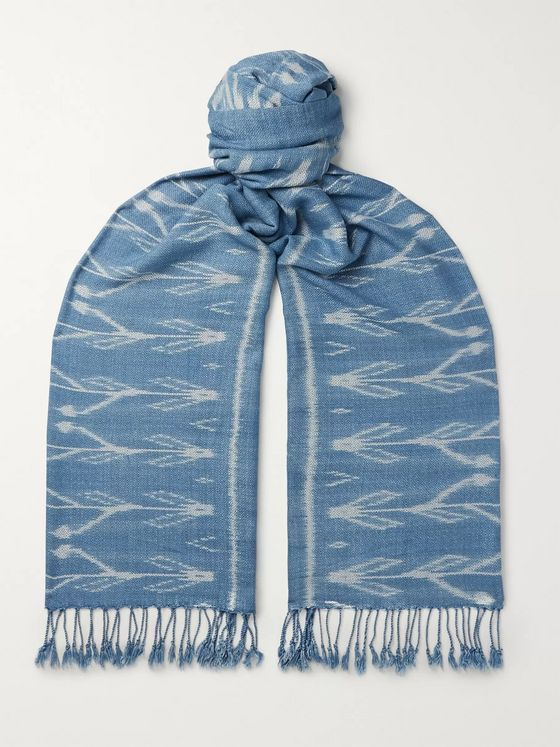 Il Bussetto Indigo-Dyed Cotton Scarf