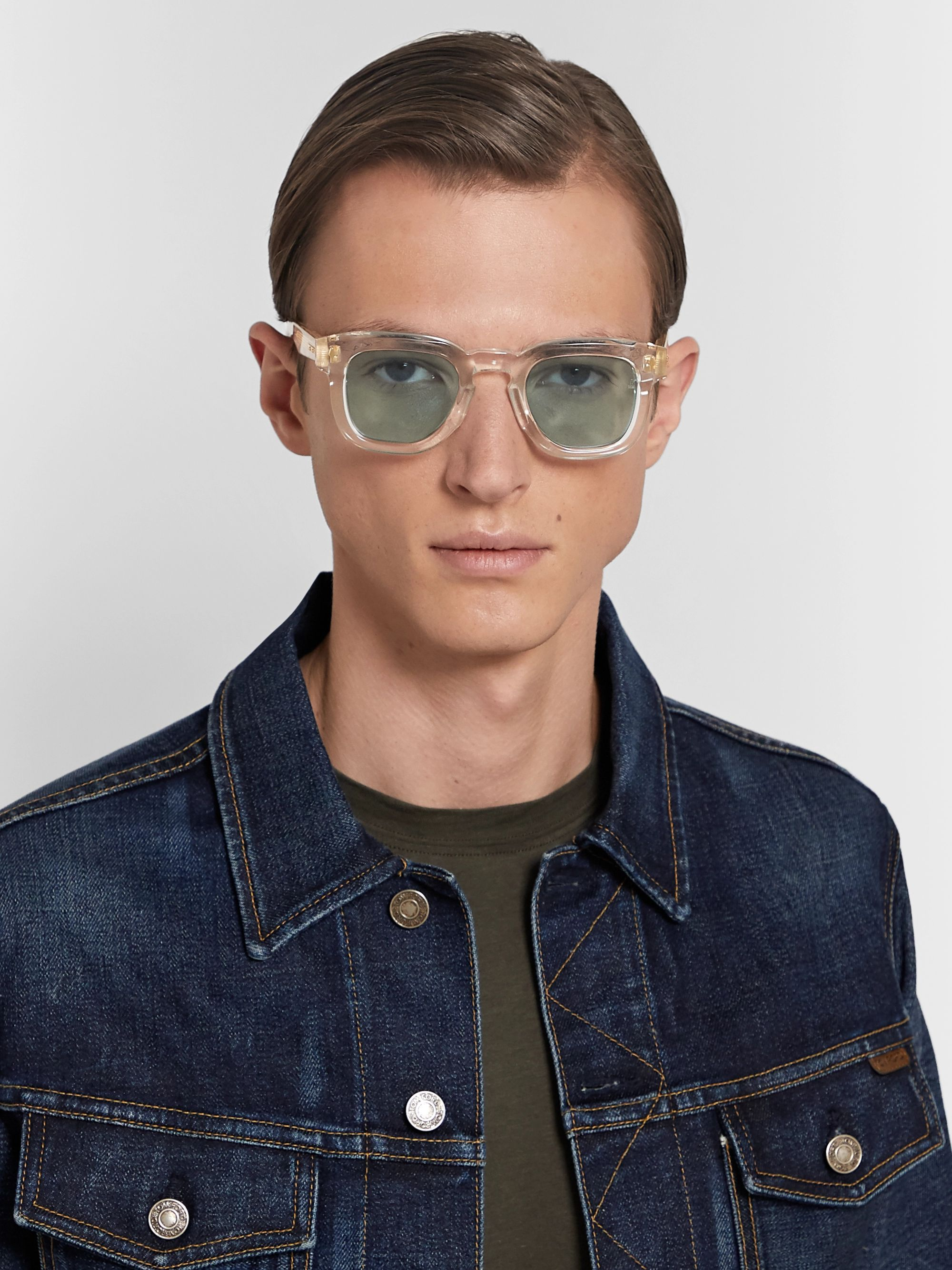 Jacques Marie Mage Hickok D-Frame Acetate Sunglasses
