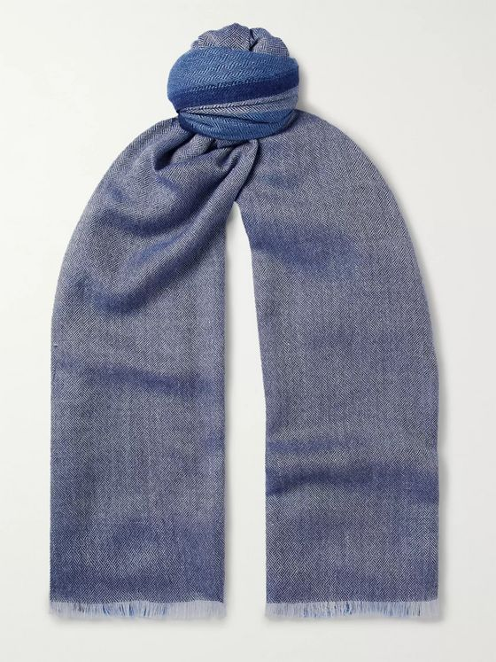 Loro Piana Cashmere, Silk and Hemp-Blend Scarf