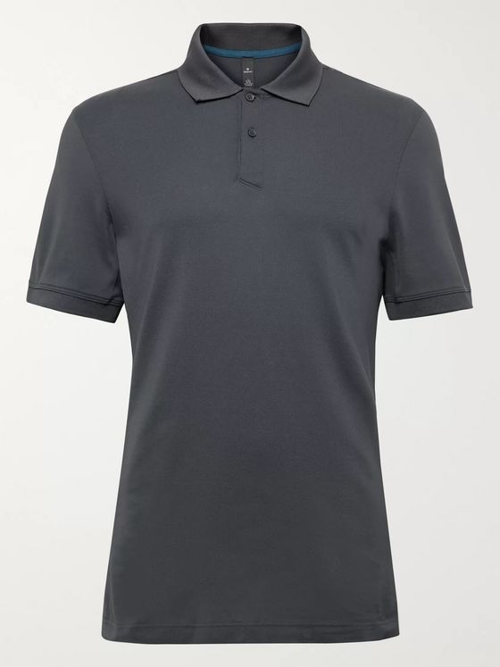 Lululemon Stretch Pima Cotton-Blend Piqué Golf Polo Shirt