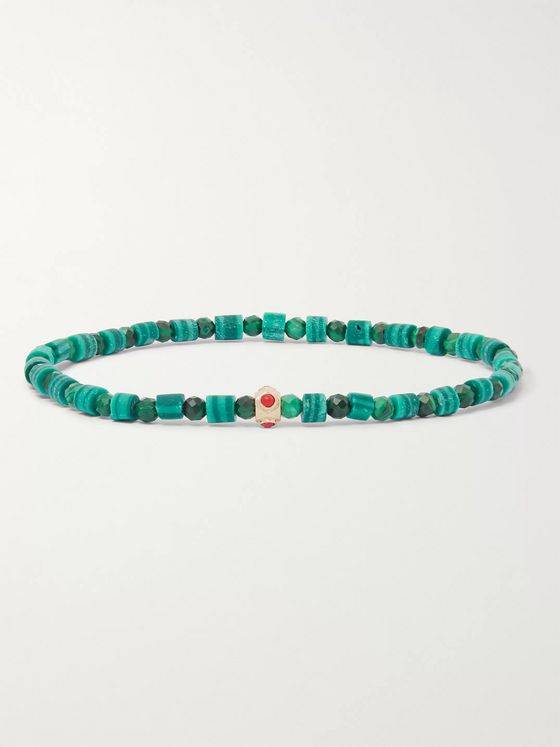 Luis Morais Malachite and 14-Karat Gold Bracelet