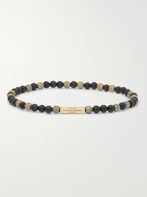 Luis Morais Bead and 14-Karat Gold Bracelet