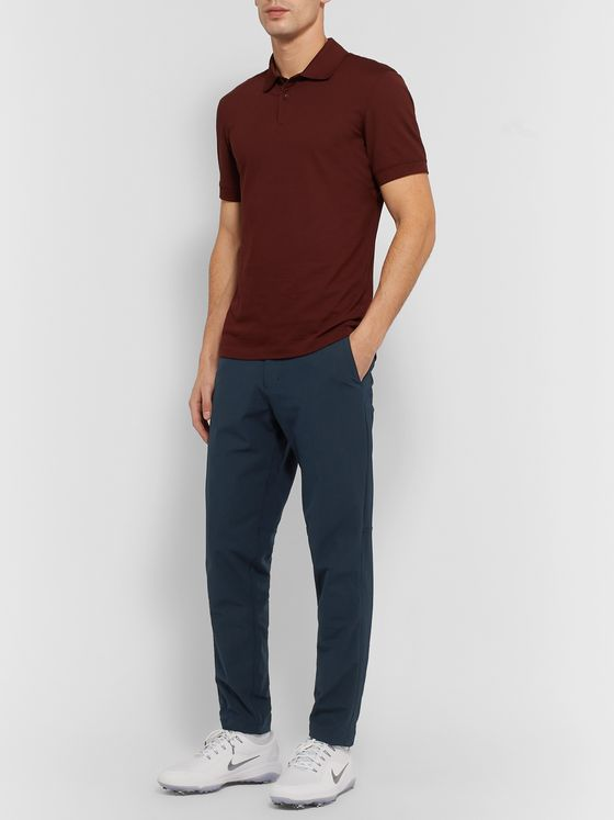 Lululemon Navy Commission Slim-Fit Tapered Warpstreme Trousers