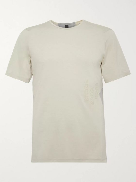 Lululemon Fast and Free Printed Breathe Light Mesh T-Shirt