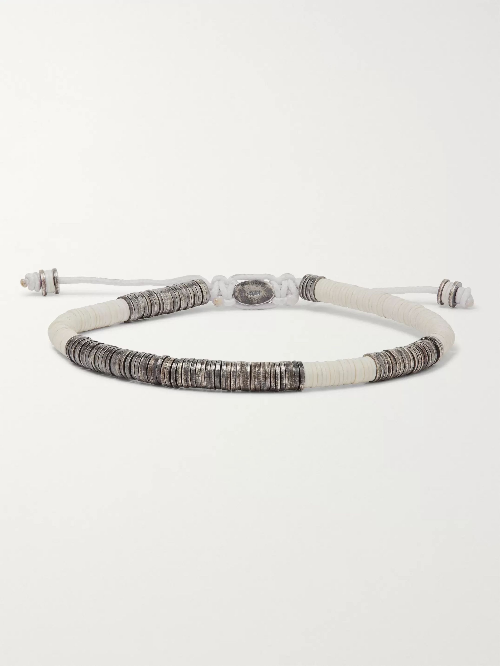 M.Cohen Burnished-Sterling Silver and Vinyl Beaded Bracelet