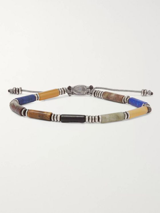 M.Cohen Sterling Silver Multi-Stone Beaded Bracelet