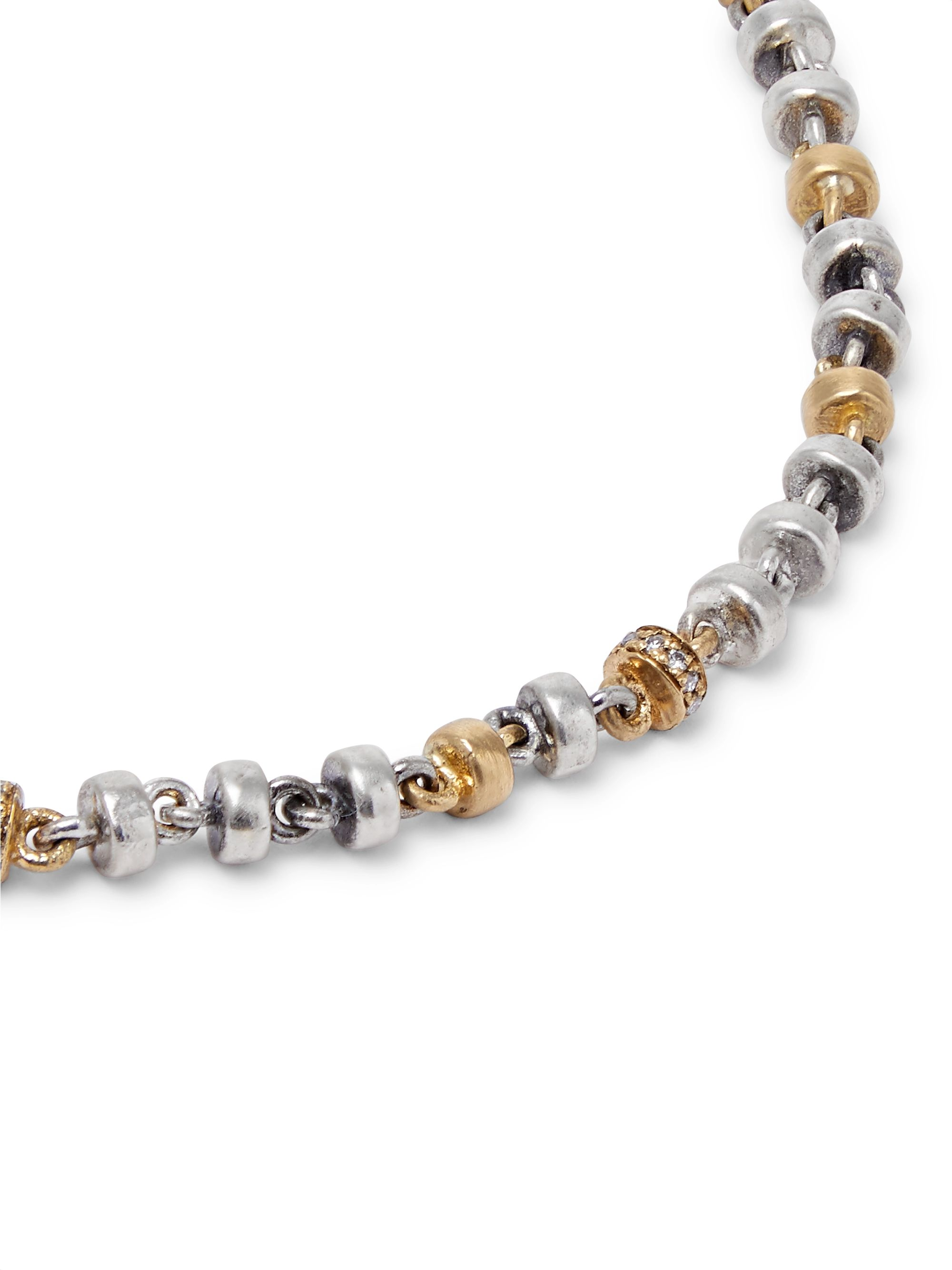M.Cohen Omni Oxidised Sterling Silver and 18-Karat Gold Diamond Bracelet
