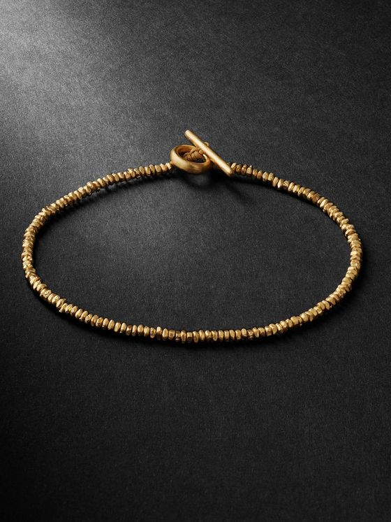 M.Cohen Cornerless 18-Karat Gold Beaded Bracelet