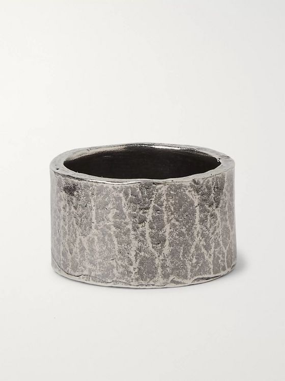 M.Cohen Oxidised Sterling Silver Ring