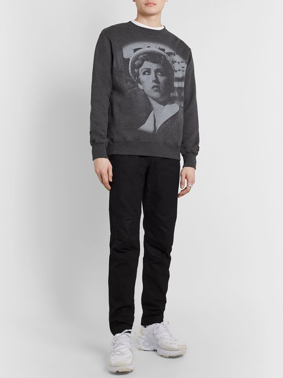 Undercover + Cindy Sherman Printed Embroidered Loopback Cotton-Jersey Sweatshirt