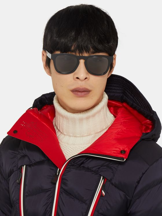 Moncler Square-Frame Acetate Polarised Sunglasses