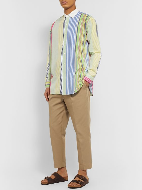 Beams Plus Striped Cotton Shirt