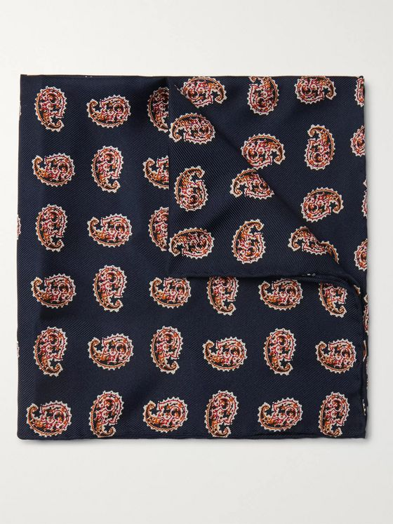 Beams Plus Printed Silk-Twill Pocket Square