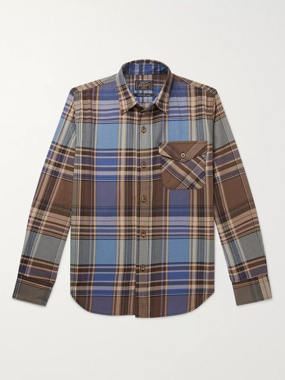 Beams Plus Checked Cotton-Flannel Shirt