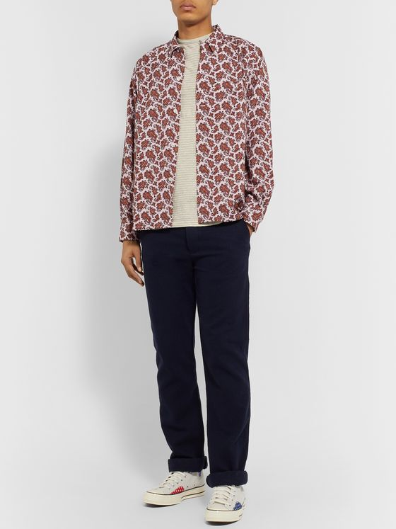 Beams Plus Button-Down Collar Paisley Checked Woven Shirt